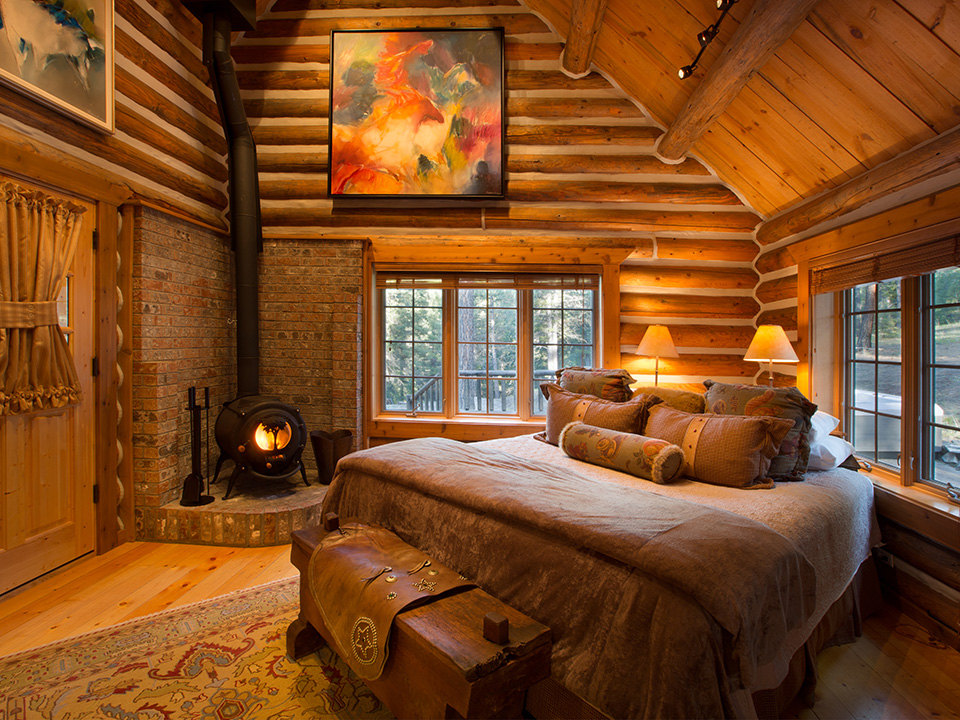 Luxury ranch cabins triple creek ranch for One room log house